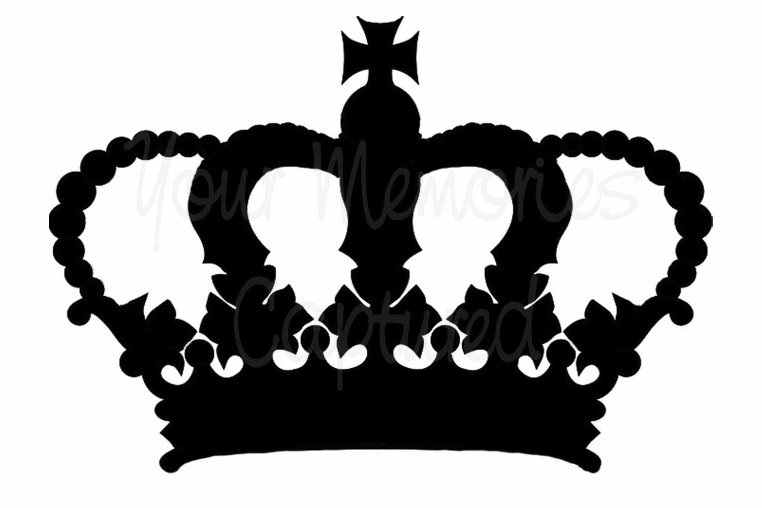 Stencil King Crown: Ornate Crown Reusable Stencil For Fabric Wood Paper
