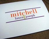 Personalized Note Cards Family or Couples Stationery