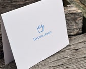 Baby Thank You Cards / Baby Shower Thank You Cards / Personalized Baby Thank You Cards / Boys Personalized Note Cards Blue Crown