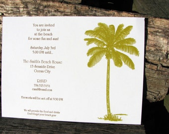 Party Invitation / Save The Date / Beach Party Invitation / Summer Party Invitation / Palm Tree Invitation / Summer Party Invite