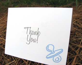 Baby Thank You Note Cards / Baby Shower Thank You Notes / Thank You Notes / Baby Boy Thank You Notes / Stationary Set / Stationery Set