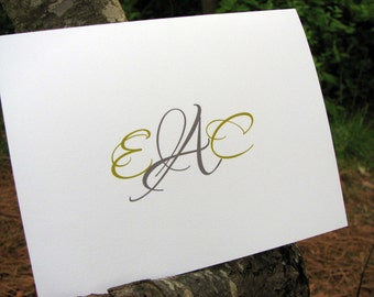 Personalized Monogram Note Cards / Personalized Monogram Stationery / Personalized Monogrammed Notes / Thank You Notes