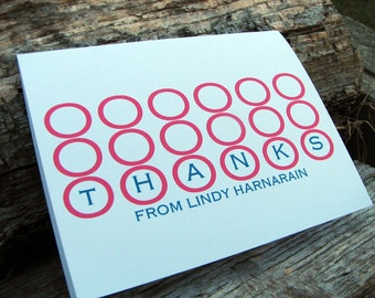 Personalized Thank You Note Cards Modern Circles Stationery