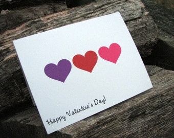 Happy Valentine's Day Set of 8 Note Cards / Valentine's Cards / Classroom Valentine's Cards / Personalized Valentine's Cards
