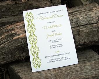Damask Party Invitation Damask Set of 20 Invitations