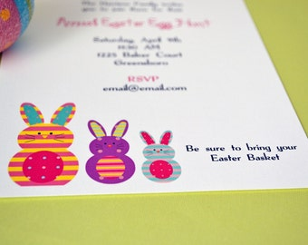 Easter Party Invitations  Personalized Set of Party Invitations