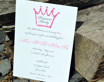 Girls Princess Birthday Party Invitations / Princess Party Invite / Princess Party Invitations / Princess Party for Girls