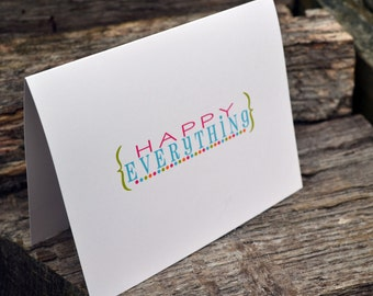 Happy Everything Note Card Set of Stationery