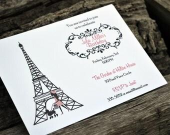 Paris and Poodle Party Invitation