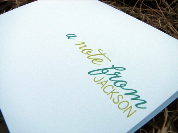 Personalized Note Cards / Personalized Stationery / Thank You Note Cards / Wedding Notes- A Note From