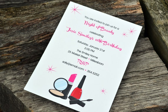 Girls Night Out Party Invitation Set of 20 Invitations