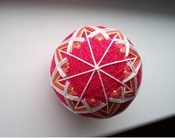 Pink Sherbet Temari Ball
