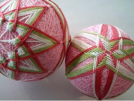 Spring Pink Duo-Temari Balls