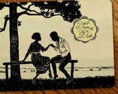 100 Custom Vintage Save the Dates or  Wedding Invitations