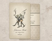 Monogram Business Cards, Calling Cards, Custom Logo Stationery, Monogram Tags, Thank You Tags, Vintage Frog themed