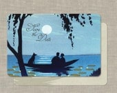 Wedding Invitation Save the Date - Moonlight and Silhouettes Vintage - Set of 100