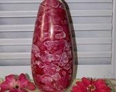 Vintage McCoy Cascade Scarlet Luster Rosebud Vase Circa 1961