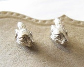 Sterling Silver Bunny Head Earrings