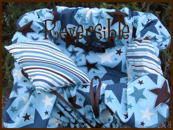 Shopping Cart Cover Reversible-w/bag-All Star