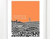 University of Virginia Cavaliers Poster - Scott Stadium - NCAA Football Art Print - Charlottesville Virginia