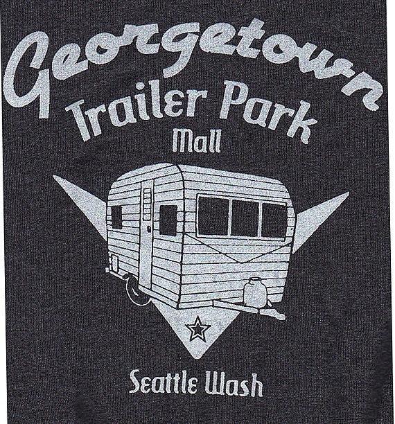 Mens Georgetown Trailer Park Mall Tweed Grey Tee Shirt