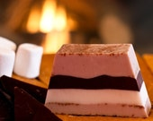 S'mores, Hand-Crafted Soap Fireside Chocolate Marshmallows Graham Crackers Camping Organic Brown Wheat Germ Dude Unisex Gift