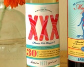Custom 30th birthday wine labels