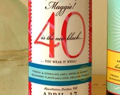 40 is the new black -custom birthday wine labels