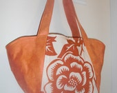 Stella bag - orange aviary print    STORE CLOSING. Everything discounted..