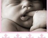 Cross Custom Photo Birth Announcement