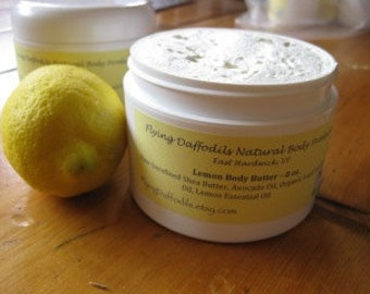 Lemon Body Butter, 8oz - All Natural
