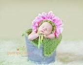 Newborn Flower Bonnet