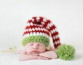 Fuzzy Christmas Stocking Elf Hat