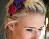Zipper Rosette Flower Headband Adult