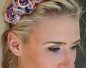 Headband with 3 Plaid Rosettes Adult