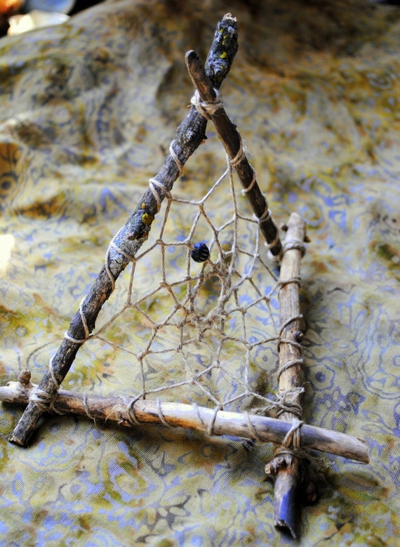 Symbiosis Four-Sided Upright Waking Dreamcatcher with Lichen