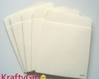 Authentic Library Card Pockets - set of 25