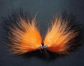 Orange and White Furry Costume Animal Ears Clips Fox Halloween Cosplay