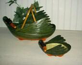 Vintage Estee Lauder Swan Gift Baskets 1980's