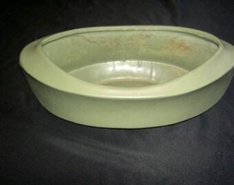 Mc Coy Floraline Green Ceramic Planter  1968 UNDER 20
