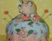 OOAK Vintage PIG Pepper Shaker Pin Cushion