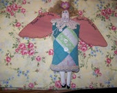 Vintage Quilt Cloth Doll Angel Shabby Sweet