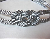 Metalic silver sailor knot headband