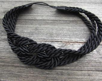 SALE black sailor knot headband was 14