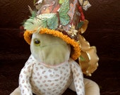 Crown your Frog or Prince - paper art hat and card