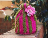 SALE--------Green and Pink baby hat