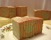 Sparkling Cucumber Melon Swirl Large Soap Bar with Shea Butter