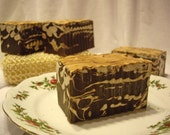 Chocolate and Vanilla Large Soap Bar with Cocoa Butter & Pumpkin Seed Butter