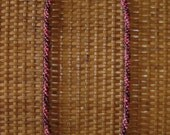 Burgundy & Hot Pink KAHELELANI SHELL LEI w/ Half Swimmer Cowries