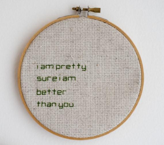 Cross Stitch Embroidery Hoop Wall Art